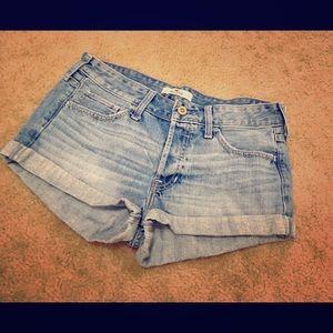 Hollister Denim Blue Short Shorts Size 7/28